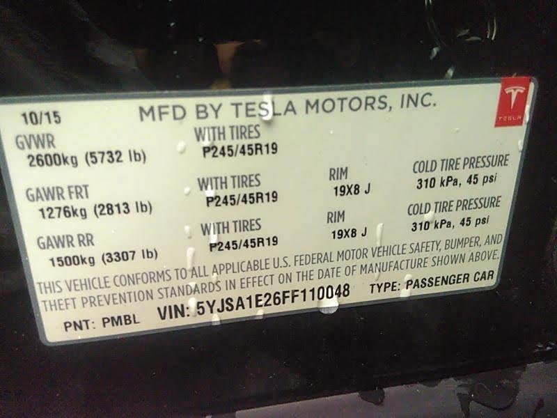 2015 Tesla Model S 4dr Sdn AWD 70D зображення 4